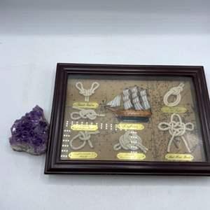 Lot # 27 Collection of Sailor's Knots, plus Geode