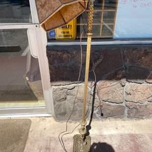 Lot # 29 Decorative Brass Base Floor Lamp