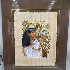 Lot # 41 Framed Egyptian Tapestry Art