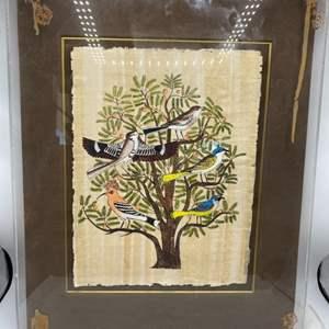 Lot # 42 Framed Egyptian Tapestry Art