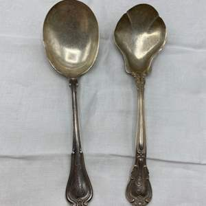 Lot # 43 Two Sterling (Marked) Silver Spoons (128g)
