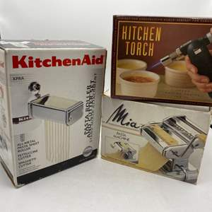 Lot # 44 Two Pasta Rollers and a Kitchen Torch
