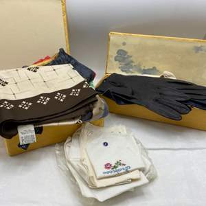 Lot # 45 Lot of Handkerchiefs and Gloves