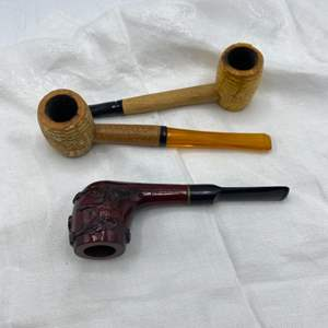 Lot # 57 Lot of Three Tobacco Pipes
