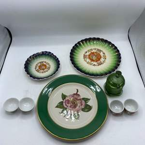 Lot # 64 Lot of Mixed Floral and Green China