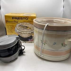 Lot # 65 Lot of Three Kitchen Items - Presto Power Pop, Crockpot, Pancake Maker?