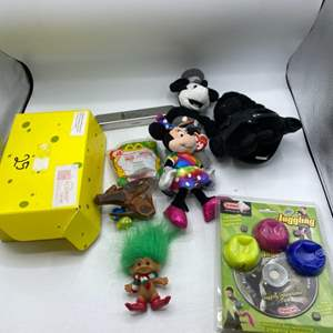 Lot # 71 Lot of Collectable Toys - Troll, Mickey and Minnie Plush, Juggling Balls, Etc.