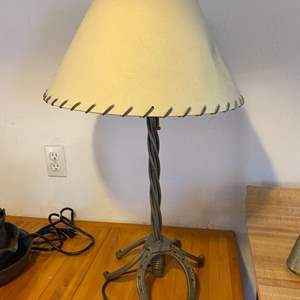 Lot # 6 Horseshoe Base Table Lamp - Works