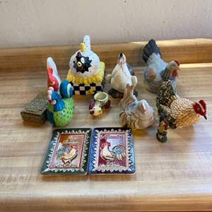 Lot # 10 Lot of Chicken Collectibles