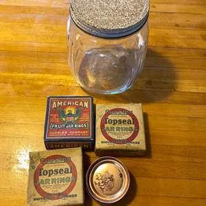 Lot # 18 Vintage Canning Jar, Seals / Rings
