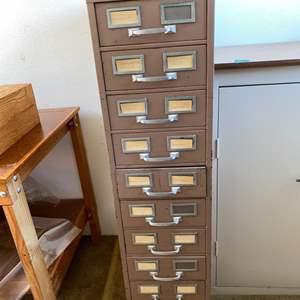 Lot # 21 Steel Card File Cabinet