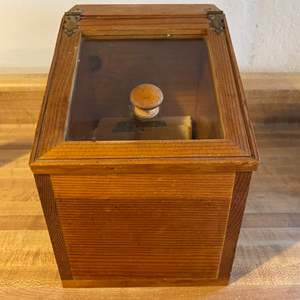 Lot # 41 Wood Canister Box