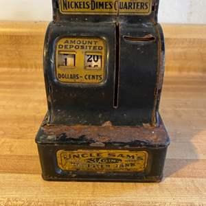 Lot # 43 Vintage Uncle Sam's Children's Cash Register