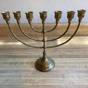 Lot # 73 Brass Menorah