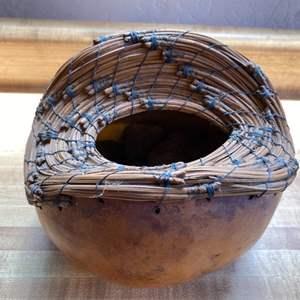 Lot # 76 Handwoven (Top) Gourd Vase?