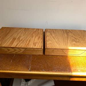 Lot # 98 Lot of 2 Well Made Archival Boxes
