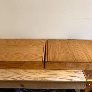 Lot # 101 Lot of 2 Well Made Archival Boxes
