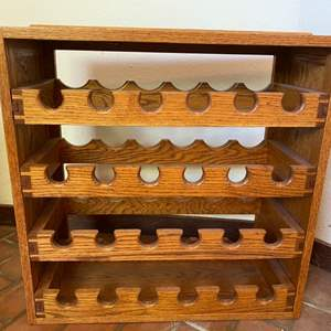 Lot # 141 Oak Wine Rack (Can be Stacked with Lot #142)