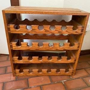 Lot # 142 Oak Wine Rack