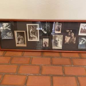 Lot # 147 Antique or Vintage Framed Collage of Photos