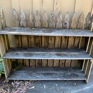 Lot # 156 Picket Fence Outdoor Shelving Unit