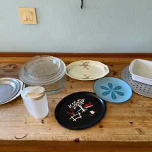 Lot # 158 Lot of Misc Plates, Platters, etc