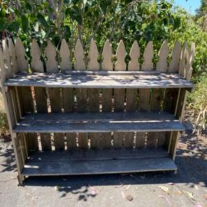 Lot # 161 Picket Fence Outdoor Shelving Unit