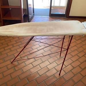 Lot # 188 Vintage Ironing Board (Metal Legs, Wood Top)