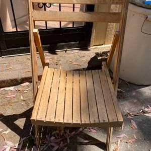 Lot # 200 Wood Folding Chair