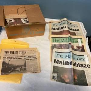 Lot # 4 Lot of Malibu Times Newspaper Articles