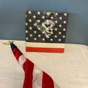 "Lot # 7 JFK ""As We Remember Him"" Set - Book, Vinyl, Flag"