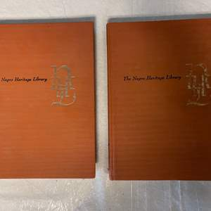 """Lot # 46 Pair of """"The Negro Heritage Library"""" Books"""