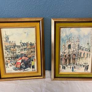 Lot # 58 Pair of Architectural Prints