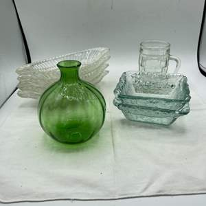 Lot # 61 Blue and Green Tinted Glass