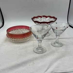 Lot # 74 Red Glassware