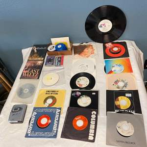 Lot # 94 Lot of Records, DVDs, and Film