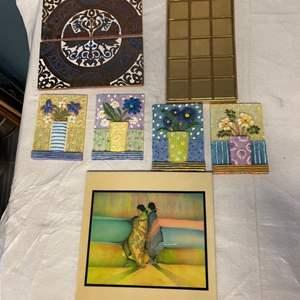 Lot # 100 Lot of Decorative Tiles
