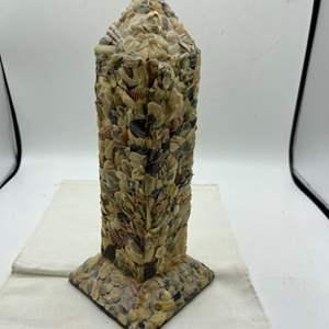 Lot # 104 Obelisk Made With Shells