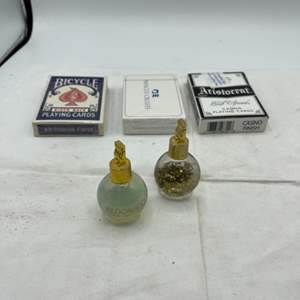 Lot # 107 Lot of Casino and Hotel Items - Cards and Bottles