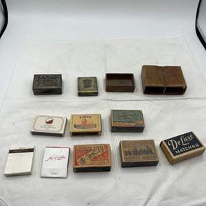 Lot # 108 Collection of Matchboxes and Matchbox Holders