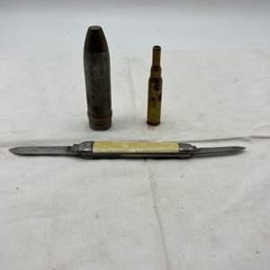 Lot # 110 Bullets and Pocket Knife