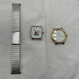 Lot # 119 Watch Parts - Band and Two Faces