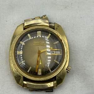 Lot # 120 Gold-tone Bulova Accutron Watchface