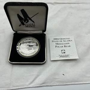 Lot # 124 2004 Official State of Alaska Medallion Polar Bear