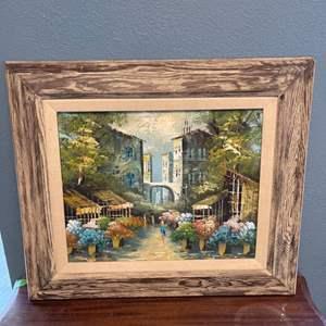 "Lot # 131 Oil Painting, Artist Signed ""Barnes"""