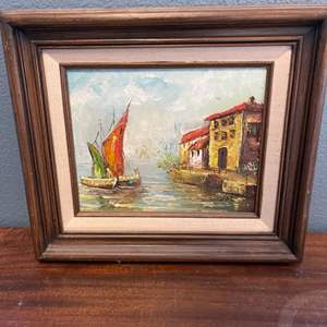 Lot # 132 Oil Painting, Artist Signed