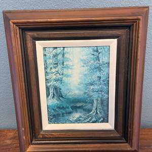 Lot # 136 Frame Print of Forest