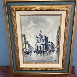 Lot # 137 Oil Painting, Artist Signed Bottom Right