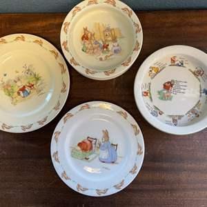Lot # 140 Nursery Plates and Bowls