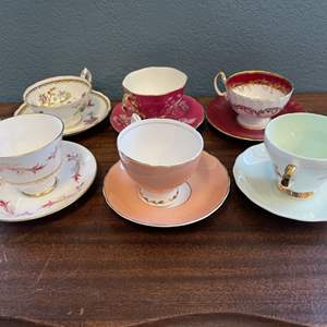 Lot # 152 Lot of Tea Cups with Matching Plates